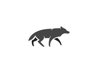 Wolf walking wild forest pet fox dog logo minimal animal wolves wolf