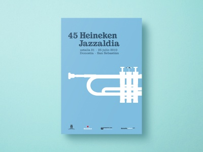 45 Heineken Jazzaldia - Poster (01) spain illustration jazz jazz festival music festival gig poster poster a day poster art poster designer poster design poster print print design conceptual design design graphic