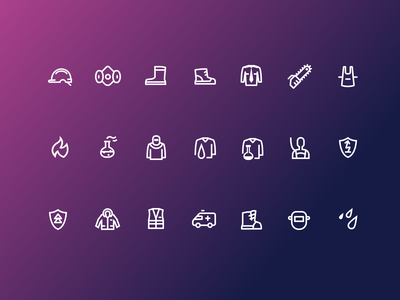 Icons for overalls company iconset icons icon graphic ui web affinity designer flat digital design vector