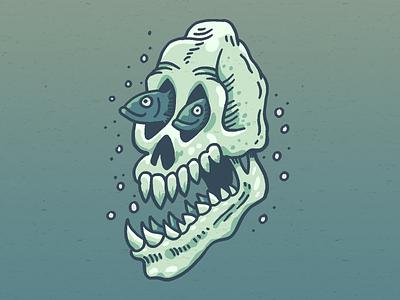 Demon skull 1 graphic skull flat digital design drawing illustration