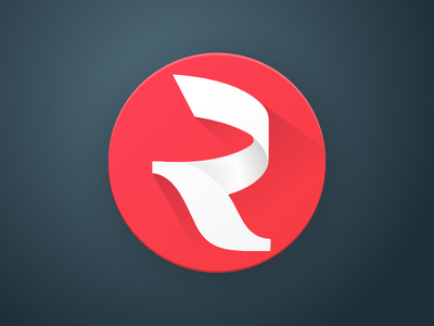 The app icon russia white red longshadow interface icon app