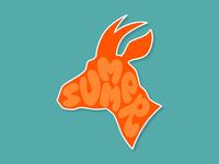 Summer Goats drawing illustration blue orange stickermule sticker goat