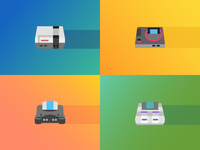 Icons8 Flat Consoles Icons