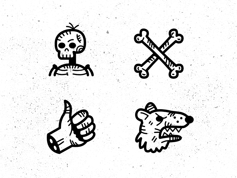 Spooky Tale icons icons drawing hand drawn icon affinity designer vector black graphic