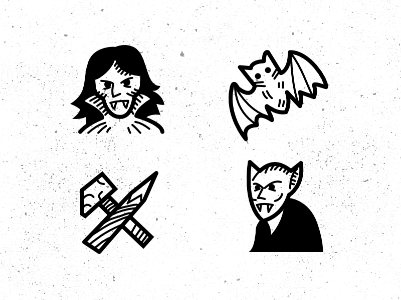Spooky Tale By Icons8 vector icons icon hand drawn graphic drawing black affinity designer