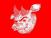 Horned Hog