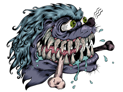 Honey badger illustration drawing procreate t-shirt print tee animal