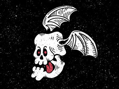 Terrifying winged terror graphic flat affinity designer black digital design red vector drawing illustration