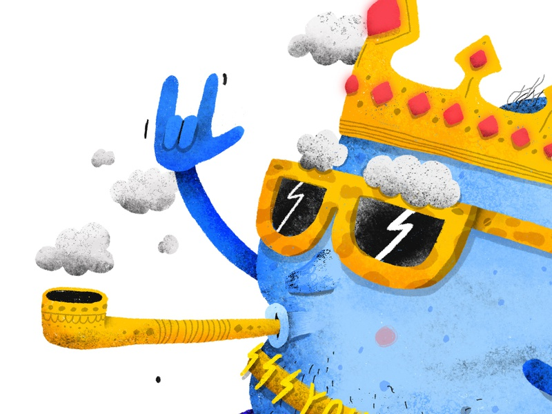 The Cloud King photoshop procreate story imagination children cloud king character character design childrens illustration childrens book illustration