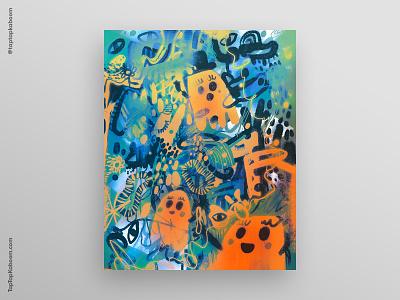 29 October 2020 abstract pumpkins ghosts poster design poster doodle doodles abstract illustration illustration halloween