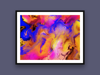Passage psychedelic marbling illustartor procreate painting illustration digital art