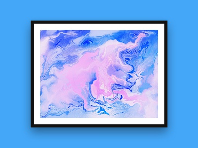 Snow Day digital painting painting procreate digital marbling art illustrator marbling