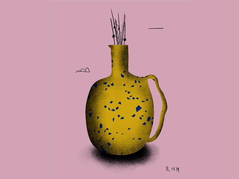 Terrazzo Ceramic Jacqueline illustration ceramic pottery terrazzo