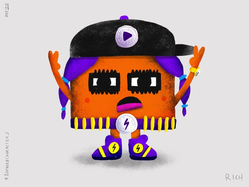 Day 22: Viddy Vikki procreate character design characters doodle children illustration illustration web 100webcharacters the100dayproject