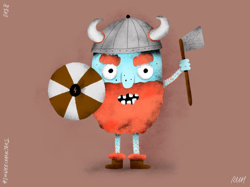 Day 76: Main Max ginger viking kid illustration procreate character design characters doodle children illustration illustration web 100webcharacters the100dayproject