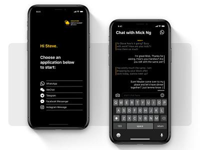#015 Instant Messenger UI Concept minimalism visual communication ux design ui app concept illustration