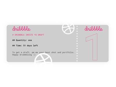 One Dribbble Invite for Draft!