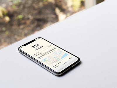 016 Weather App UI Concept ios uiux ui app design