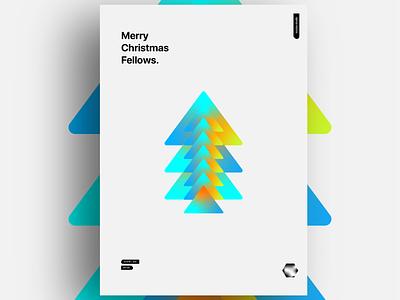 Merry Xmas Fellows xmas poster art poster illustration flat christmas