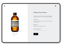 #4 Skin Care Website UI Concept
