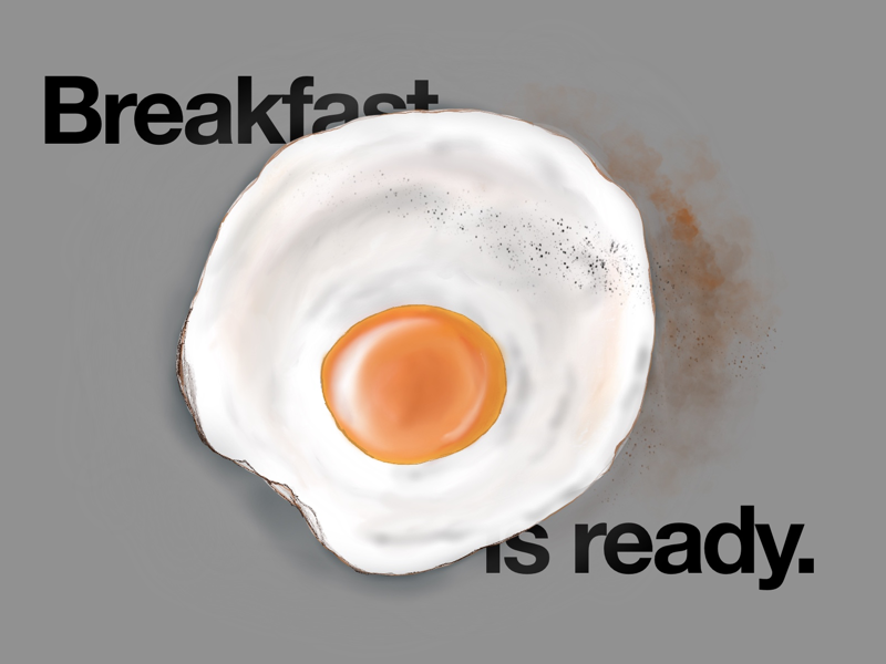 #6 Breakfast is ready. procreate ipad digital art advertising illustration