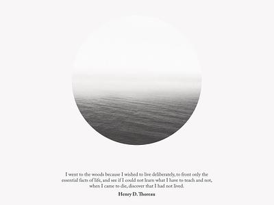 #9 Thoreau's Quote app concept blackandwhite poster art minimalism quote