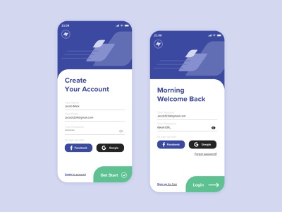 Sign In / Sign Up UI mobile login sign in signup