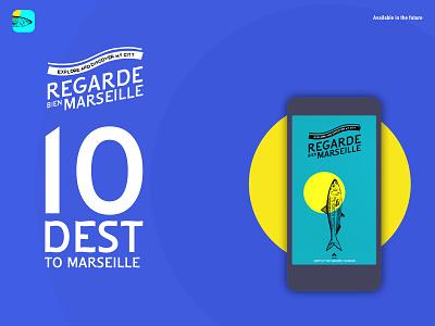 Regarde Marseille 01 marseille illustration mobile app design