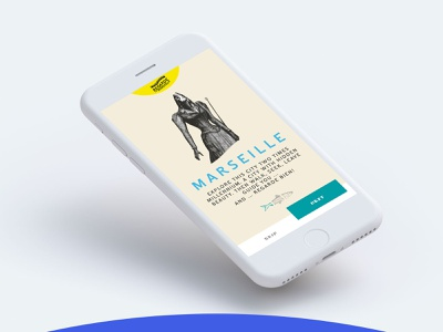 Regarde Marseille 04 ui typography concept mobile app design