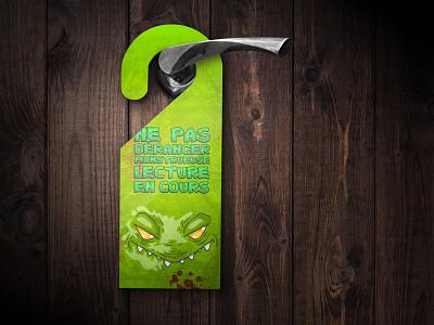 Hanger Monster mockup illustration door hanger