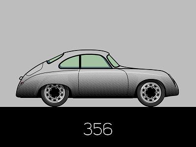 356 Pre A flat car porsche illustration