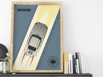 356 Outlaw car poster 356 porsche