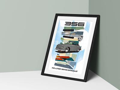 356 Colors car poster 356 porsche