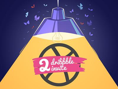2 Dribbble invitations dribbble invites dribbble invitation