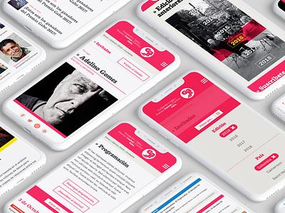Premio Gabo 2019 web design web site mobile mobile design flat branding web ui