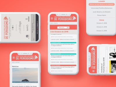 Premio Gabo 2018 - Mobile Calendar website web flat ui design web site web design mobile design mobile