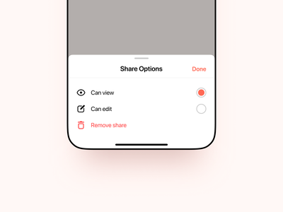 Share Options card minimal settings share icon set icon icons view edit delete iphone 12 pro iphone 12 ios 14 iphone app design ios app ios app ux ui