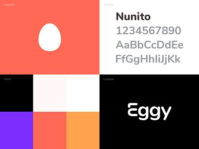 Eggy Rebrand egg pallet pallette color palette styleguide brand guide app icon app rebrand eggy logomarks identity brand identity logomark logotype logo brand design brand branding