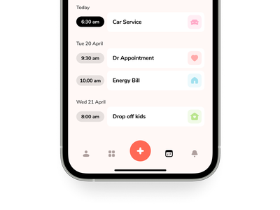 Calendar iphone icons ux timeline icon ios minimal planner schedule calendar mobile app design ui