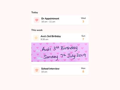 Schedule calendar events week day schedule minimal app icons icon design ui