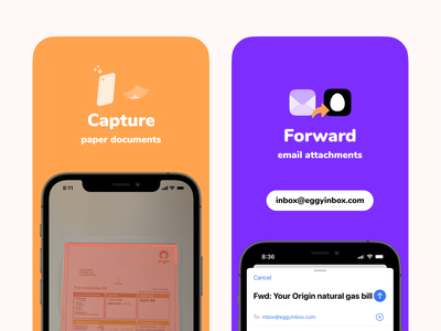 Store Screens eggy forward inbox scan email play store app store store colour brand marketing branding illustration ux minimal design app icons icon ui