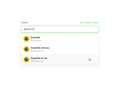 Select Twitter Profile