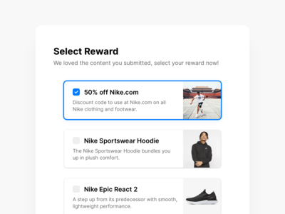 Select Reward