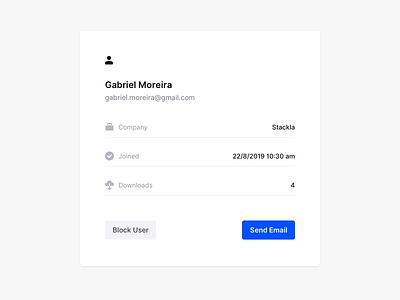 User Card web ux minimal info block email ui user profile profile card user user card