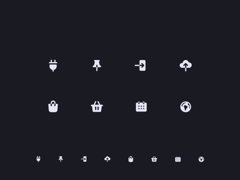 Icons filled icon negative space iconography icon set icons icon