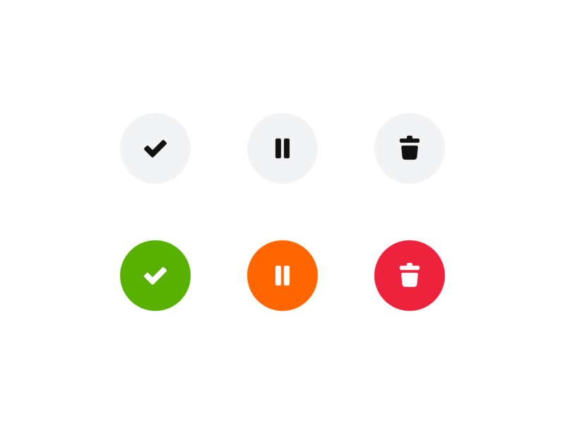 New Buttons iconography button states buttons desktop ux ui icon set icons