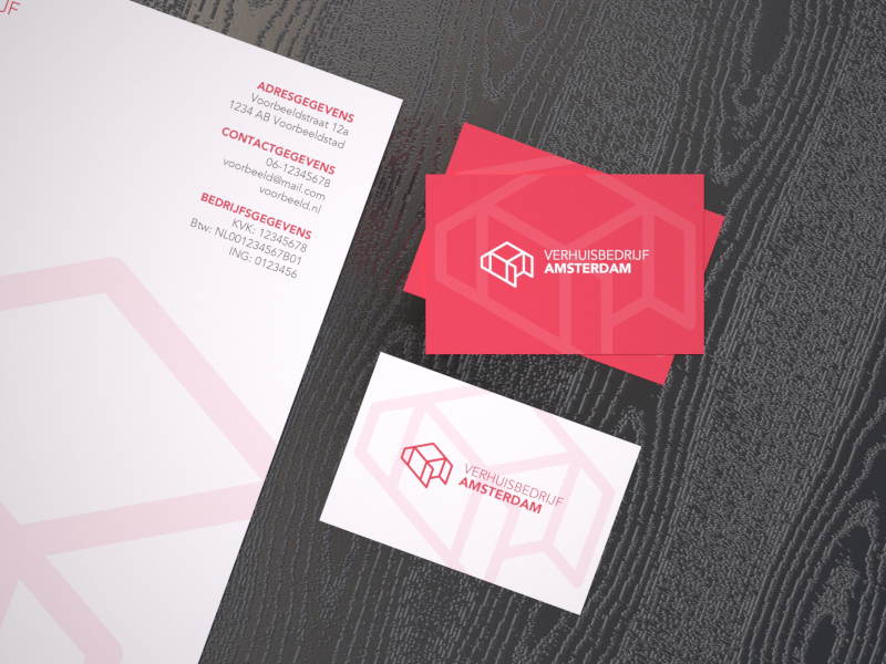 Moving company identity branding business card