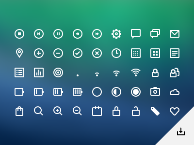 UI icons (PSD) button buttons web clean user interface ui glyphs icon icons free psd freebie