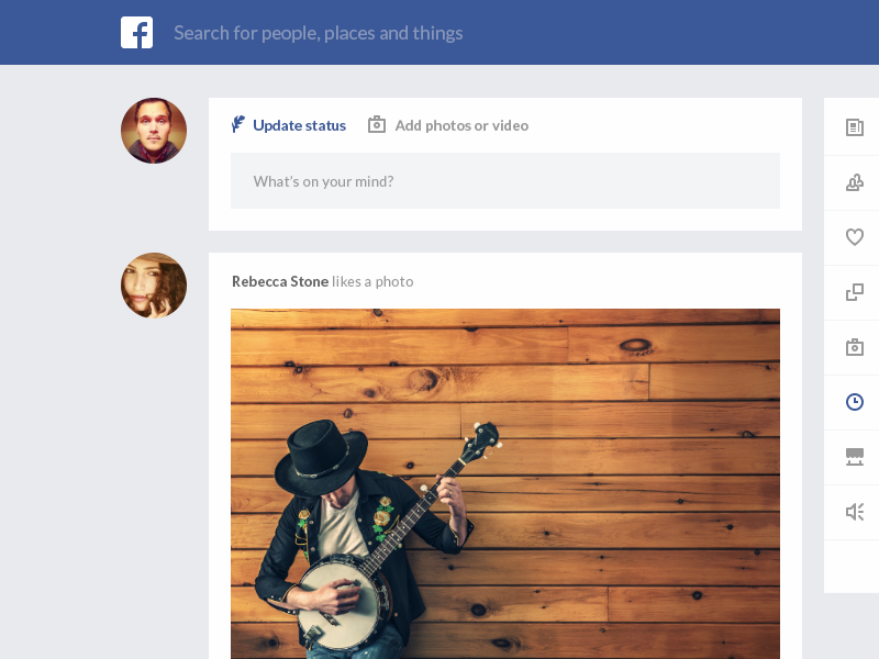 Facebook redesign website flat ui ux clean facebook redesign app icons photo