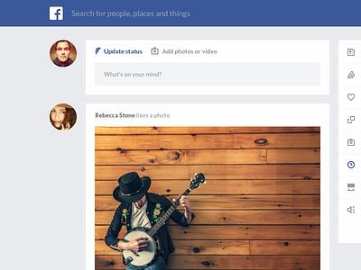 Facebook redesign website flat ui ux clean facebook redesign app icons photo